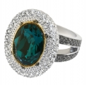 Catherine the Great Emerald Crystal Ring