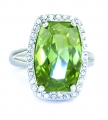 Chrysolite Crystal Ring