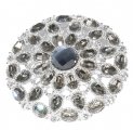 Crystal Button Brooch