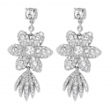 Crystal Flower Star Earrings