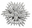 Crystal Flower Star brooch