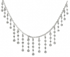 Crystal Fringe Tiara Necklace