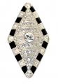 Crystal Lozenge brooch