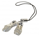 Crystal Slippers Phone Charm
