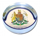Diamond Jubilee Coat of Arms Glass Paperweight