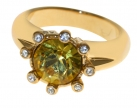 Eight-Star Citrine Crystal Ring