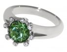 Eight-Star Emerald Crystal Ring