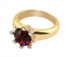 Eight-Star Ruby Crystal Ring