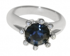 Eight-Star Sapphire Crystal Ring