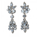 Elizabeth Taylor Crystal Flower Earrings