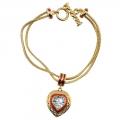 Elizabeth Taylor Heart Bracelet