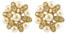 Elizabethan Faux Pearl Clip On Earrings