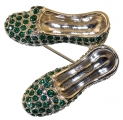 Emerald Slippers Brooch