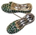 Emerald Slippers Brooch
