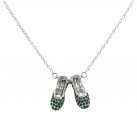 Emerald Slippers Necklace