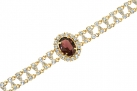 Empress Josephine of France Ruby Amethyst Crystal Bracelet
