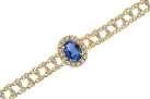 Empress Josephine of France Sapphire Crystal Bracelet