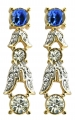 Empress Josephine of France Sapphire Crystal Earrings
