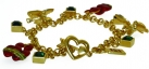 Flaming Heart Charm Bracelet