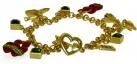 Flaming Heart Charm Bracelet