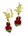 Flaming Heart Earrings