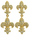 Fleur de Lys Double Earrings