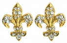 Fleur de Lys Single Stud Earrings