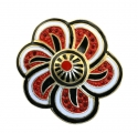 Floral Inspiration Brooch Red
