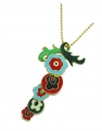 Floral dancing Pendant with leaf