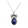 French Blue Jewelled Pendant