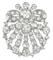 French Crystal Bow Brooch
