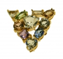 Gems Crystal Small Brooch