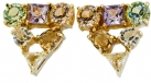 Gems Crystal Triangle Earrings