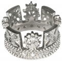 George IV Diadem Ring in Sterling Silver with Diamonds or CZ