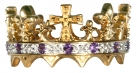 Prince of Wales 1911 Silver, Gold plated Crown Ring