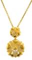 Gold Rosette Pendant