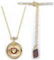 Gold-plated silver lovers' gimmel ring Pendant
