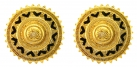 Golden Sun Earring Studs