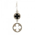 Gothic Quatrefoil Earrings (Black Onyx)
