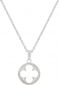 Gothic Quatrefoil Necklace (Plain Silver)
