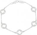 Gothic Quatrefoil Pearl Enamel Bracelet