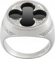 Gothic Quatrefoil Ring (Black Onyx)