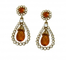 Grand Jewelled Jaune Earrings