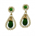 Grand Jewelled Vert Earrings