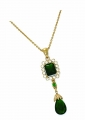 Grand Jewelled Vert Pendant