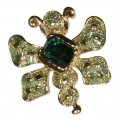 Green Beetle Bug Pin