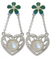 Heart and Flower Earrings