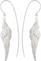 Heavenly Wing Earrings (Plain Silver) (One-side)