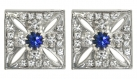Imperial State Crown Cross Stud Earrings