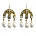 Lombardy Triple Droplet Earrings